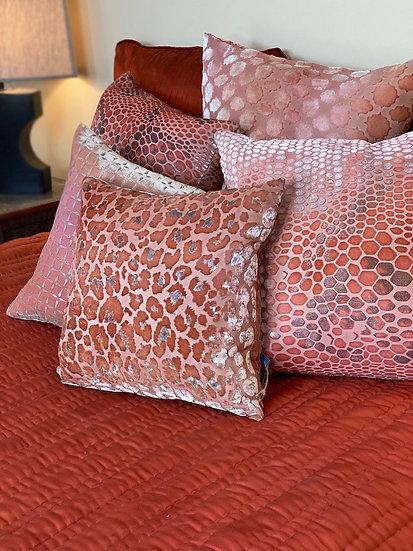Reversible rust/cream silk queen quilt from Vietnam