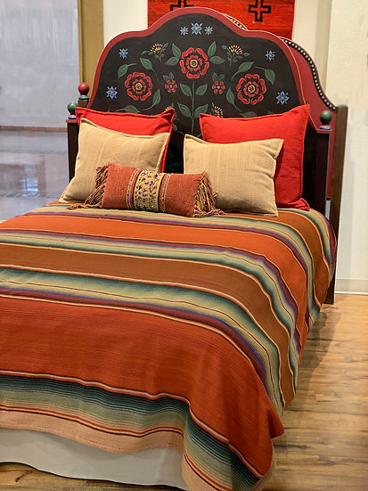 "Sergio Martinez wool bedspread ""Serape Viejo"""