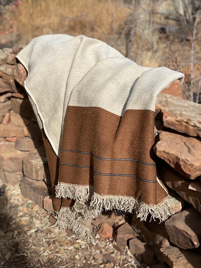 Libeco Gus Stripe linen and wool throw