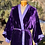Thumbnail: Reversible fine silk velvet violet robe from Vietnam