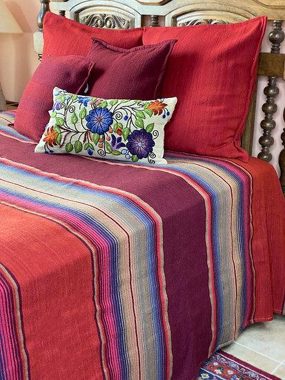 "Sergio Martinez wool bedspread ""Mexican Serape"""