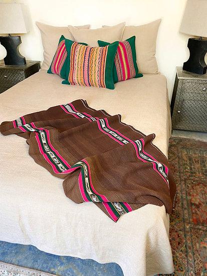 Libeco Napoli Vintage Camel coverlet/blanket