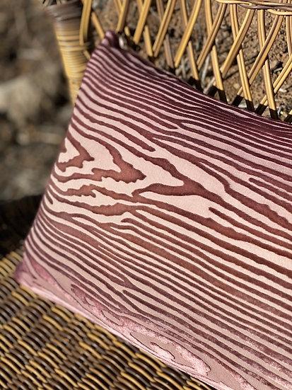 Wood velvet pillows