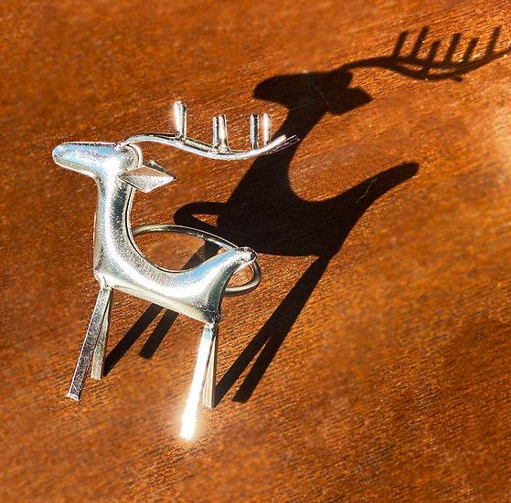 Christmas reindeer napkin rings