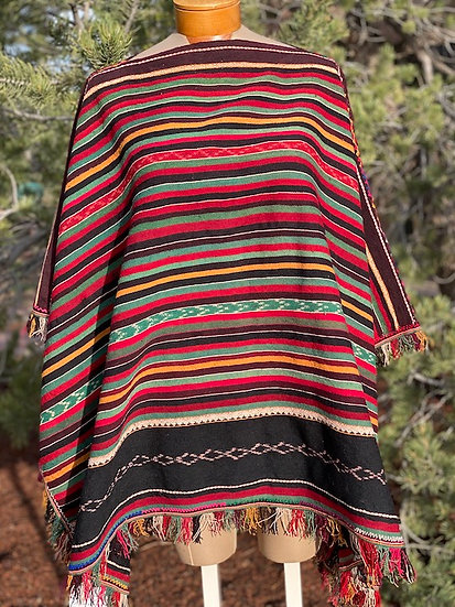 Poncho from late 20th Century, Bolivia