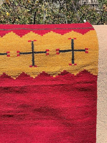 """Sergio Martinez rug """"Red/Gold Spider"""" (31""""x60"""")"""