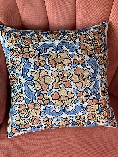 Hand-embroidered pillows from India