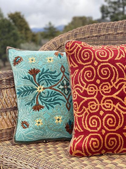 "Tibetan rug wool pillows 20""x20"" (many styles)"