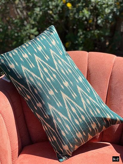 Ikat pillow covers from Uzbekistan