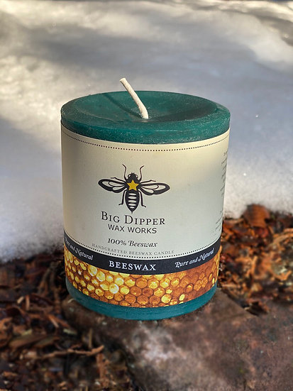 Unscented 100% beeswax candles