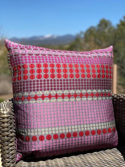 Rubina red dot pillow