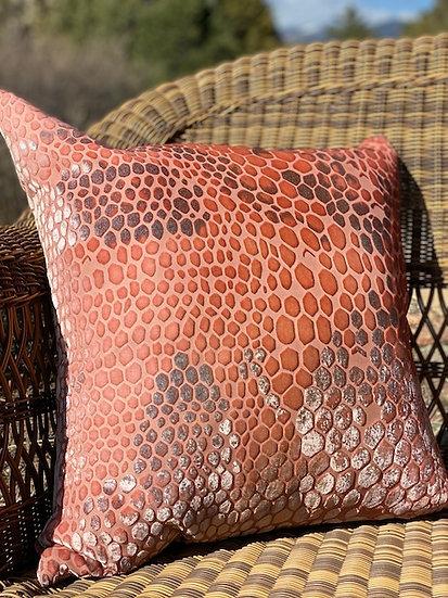 Snakeskin mango velvet pillow