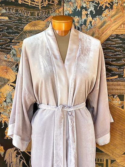 Reversible fine silk velvet robes from Vietnam (many colors)