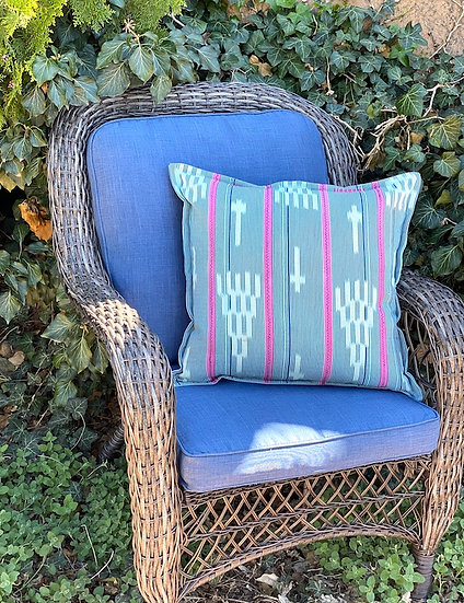 African indigo ikat pillows (many styles and sizes)