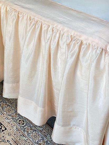 Queen silk bedskirt