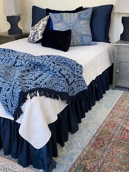 Silk king bed skirt