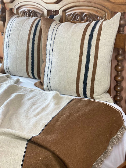Libeco Foundry linen and wool euro shams