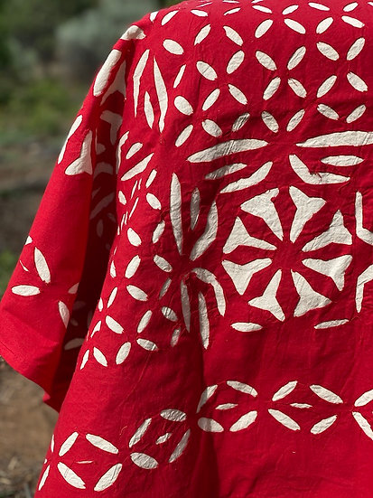Hand cut work cotton coverlets from Kashmir (many styles)