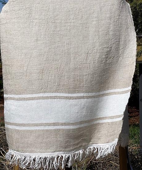 Libeco Belgian towels Flax Stripe