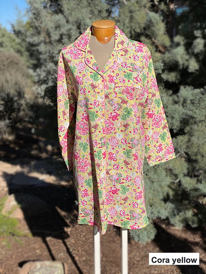 Indian cotton nightshirts, many colors
