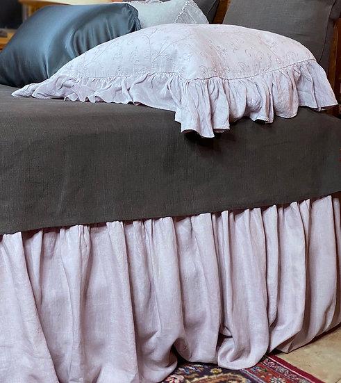 Bella Notte Cal-King Powder linen bed skirt