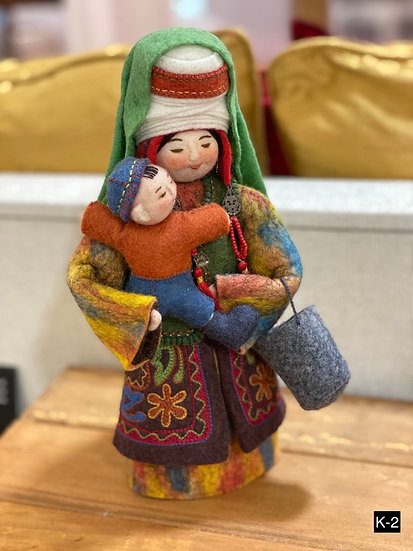 Handmade felted wool Dolls from Kyrgyzstan