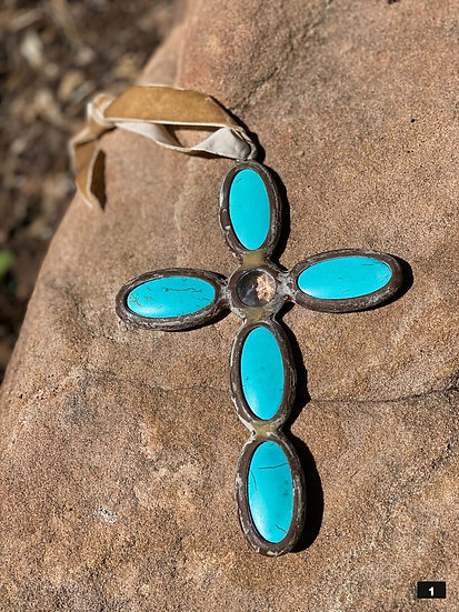 Crosses made with turquoise color