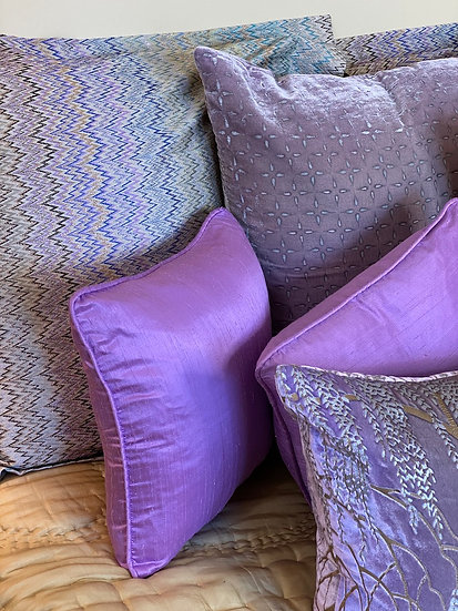 Silk duponi pillows (many colors)