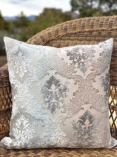 Brocade velvet Robin Egg pillows