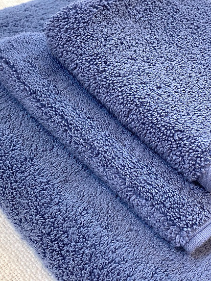 Microcotton towels Azure