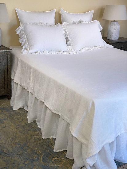 Libeco Napoli Vintage Opt white coverlet/blanket