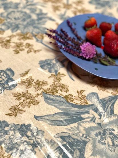 "Grace ecru oilcloth tablecloth 52""x52"""