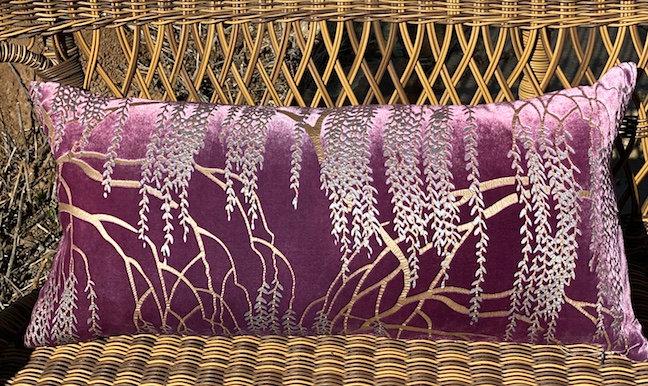 Willow velvet violet pillow
