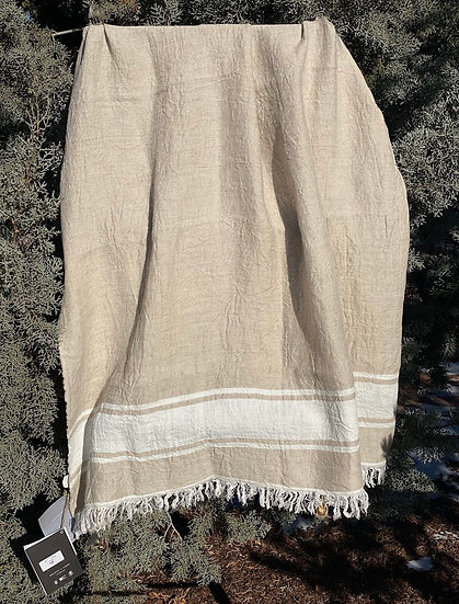 Libeco Belgian Flax Stripe towel/throw