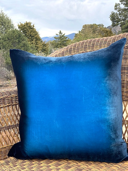 Midnight ombre velvet pillows
