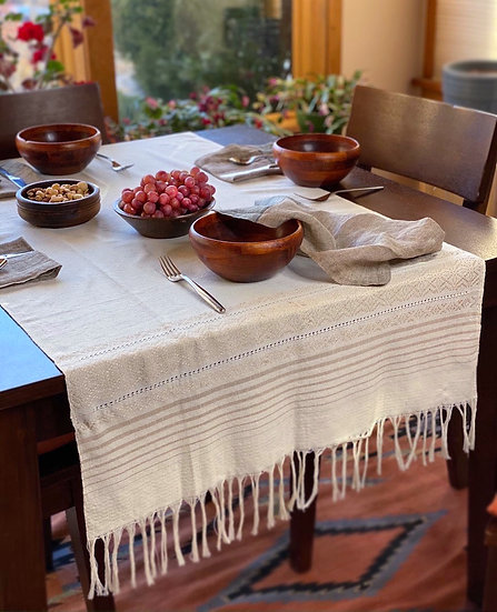 Hand-woven table runner from Chiapas, Mexico
