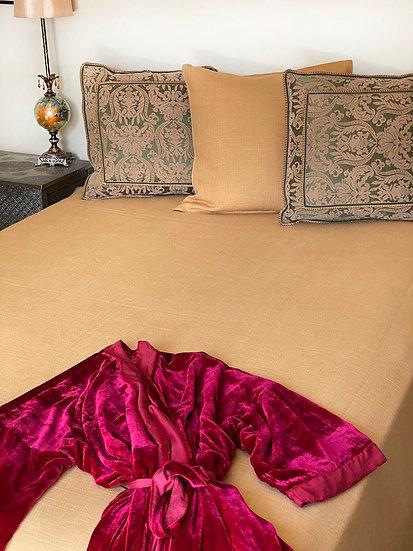 Libeco Napoli Vintage Mustard Coverlet/Blanket