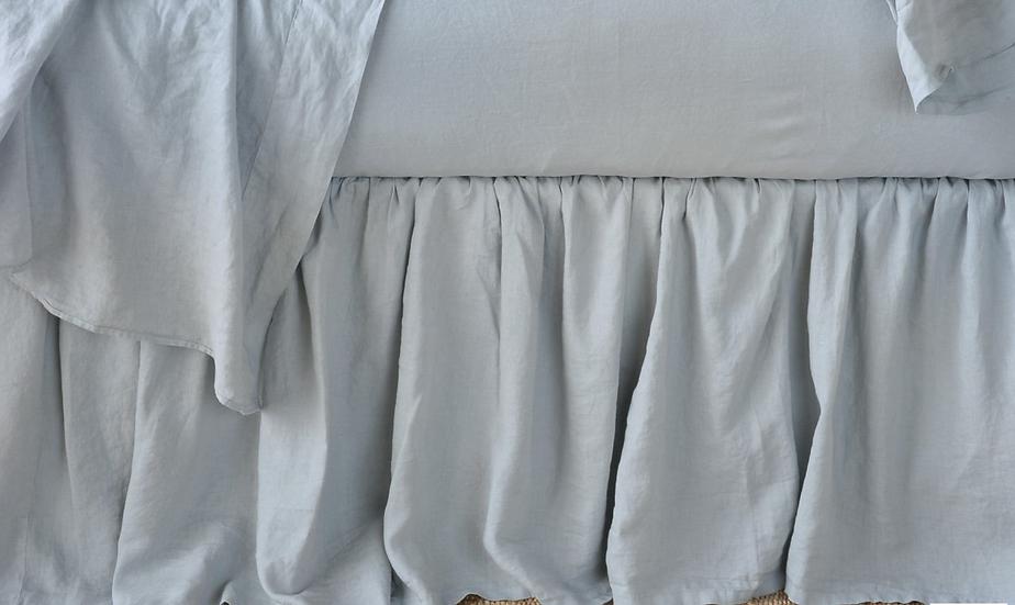 Bella Notte Mineral Queen linen bed skirts