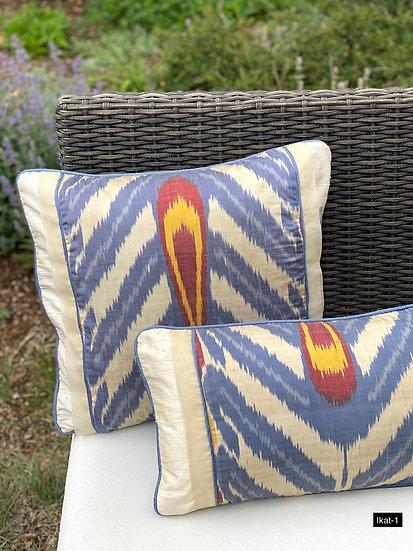 Ikat custom pillow covers from Uzbekistan