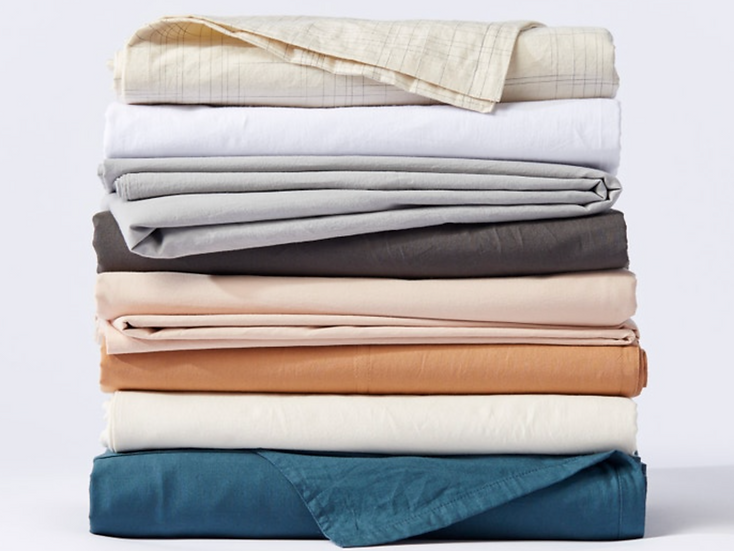 Coyuchi Crinkled organic cotton sheet sets