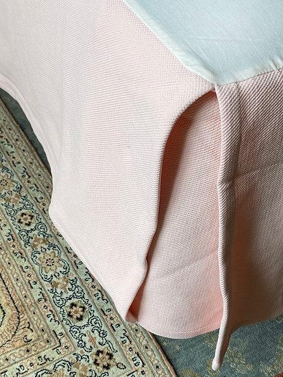 Queen Matelassé cotton bed skirt