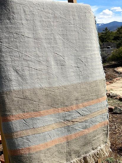 Libeco Belgian Multi Stripe towel/throw