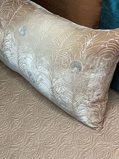 Kevin O'Brien Peacock Feather pillow
