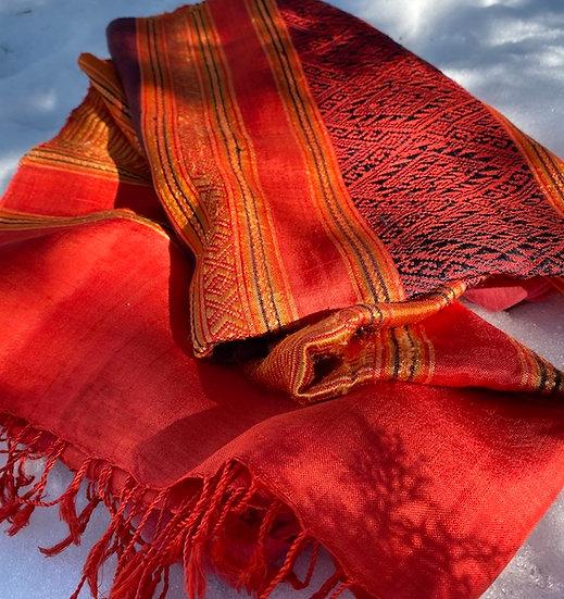 Silk blend runner/scarf from Cambodia