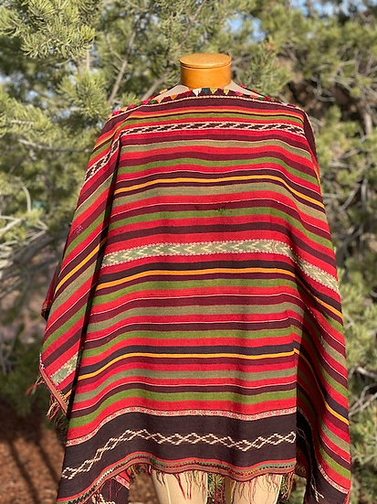 Poncho from mid 20th Century, Bolivia
