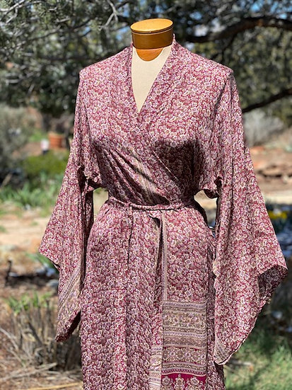 One-of-a-kind silk Sari robes from India (many colors)