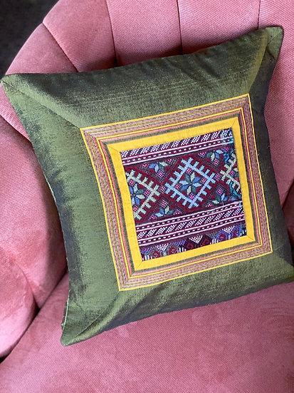 Embroidered silk pillows from Uzbekistan