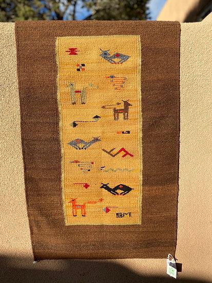 "Sergio Martinez rug ""Centro Animales"" (2'x3')"