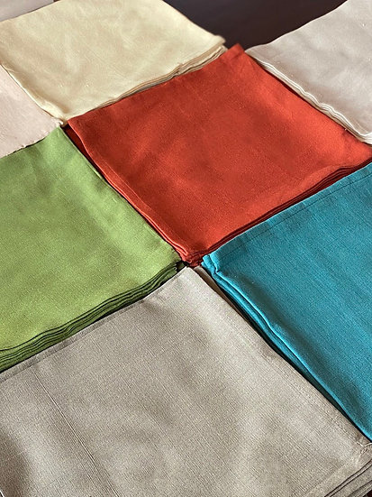 Homespun cotton napkin set (6)