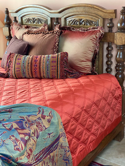 "Home Treasures ""Luciana"" quilted queen coverlet"